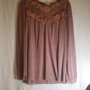 CHEAP!! ROSE COLORED MAURICE TOP